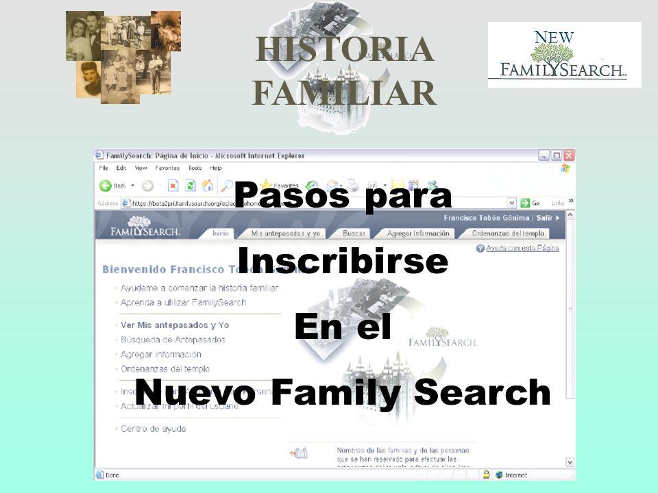 Pasos para Inscribirse En el Nuevo Family Search