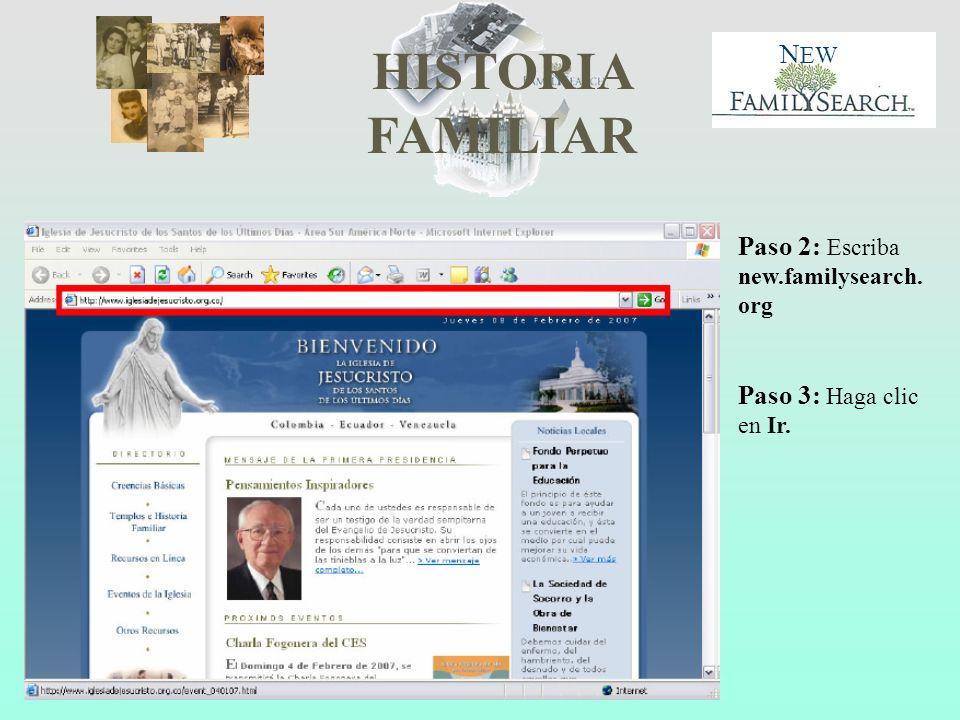 Paso 2: Escriba new.familysearch.org