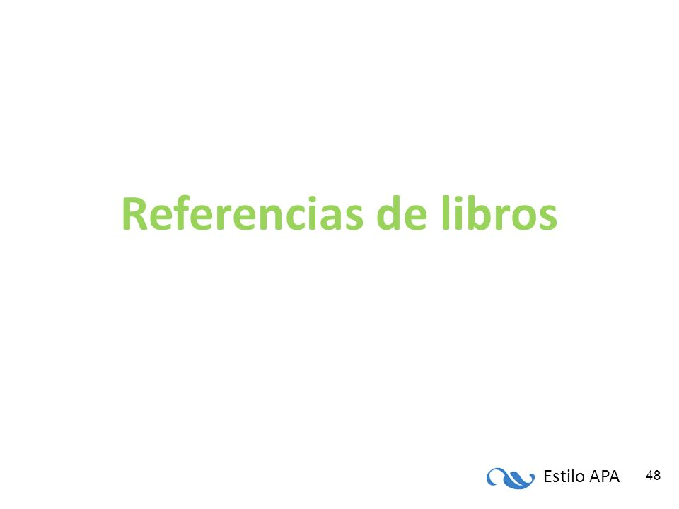 Referencias de libros