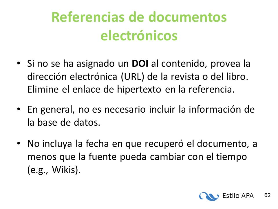 Referencias de documentos electrónicos