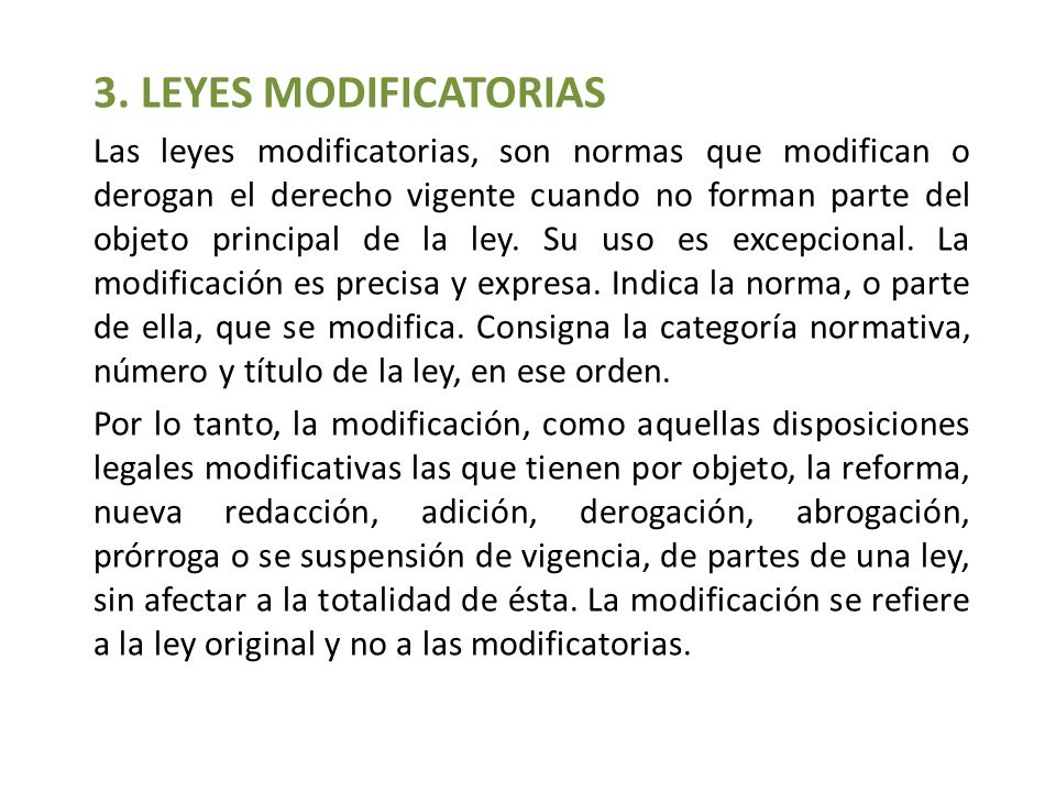 3. LEYES MODIFICATORIAS