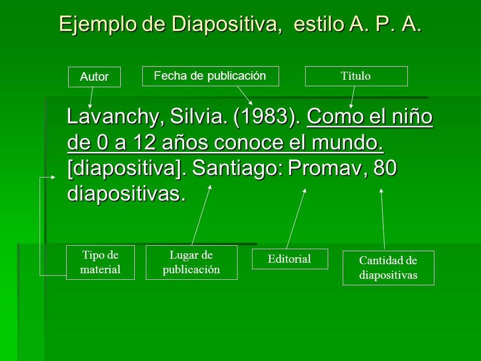 Ejemplo de Diapositiva, estilo A. P. A.