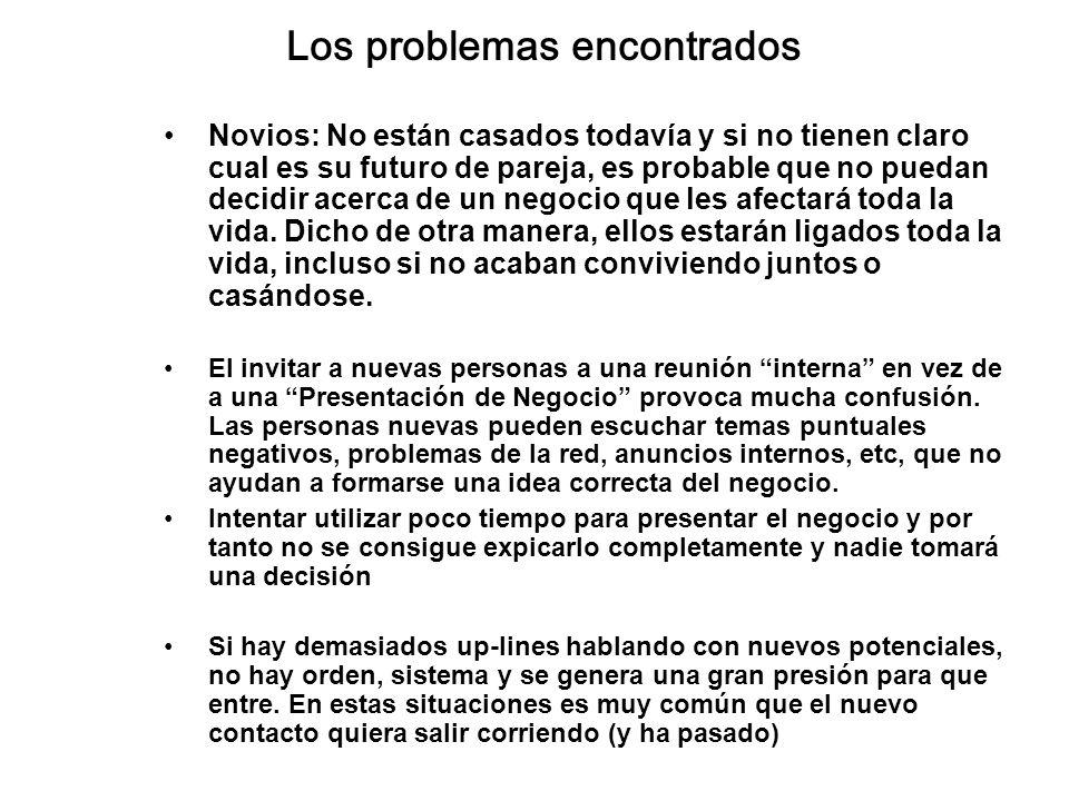 Los problemas encontrados