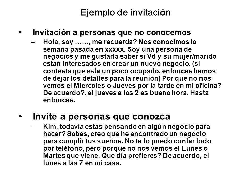 Invite a personas que conozca