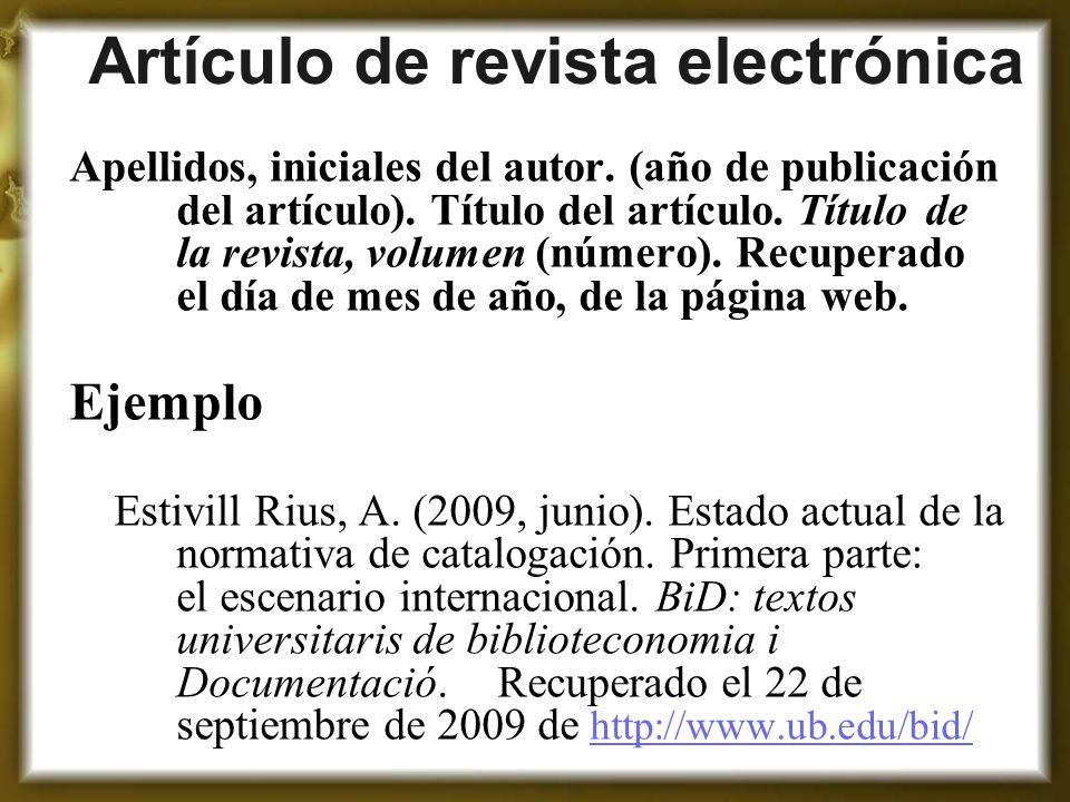 Artículo de revista electrónica