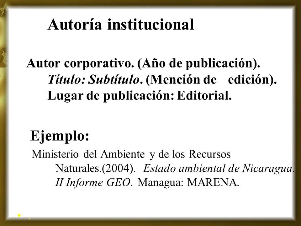 Autoría institucional