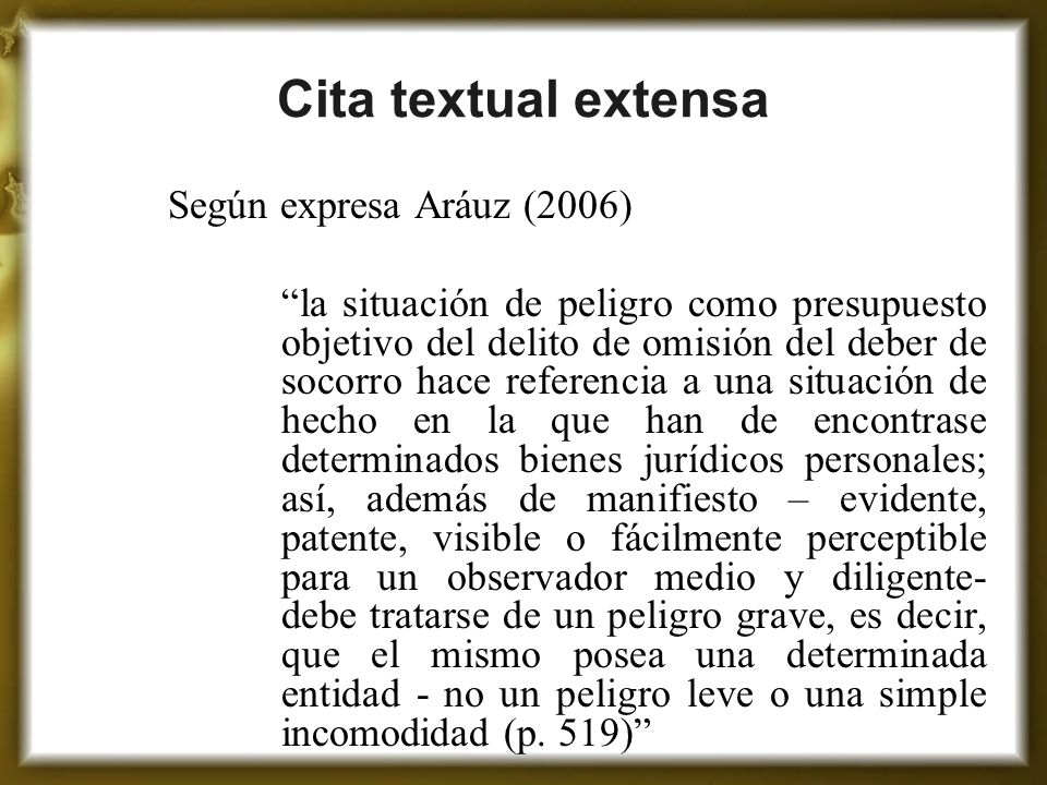 Cita textual extensa