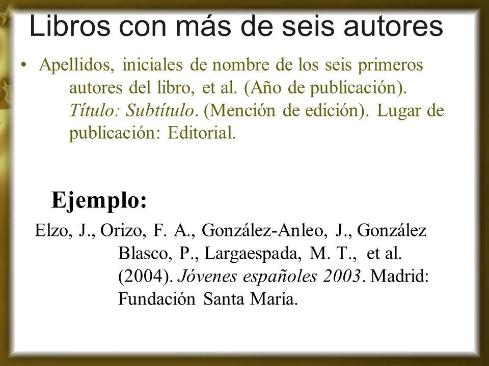 Libros con más de seis autores