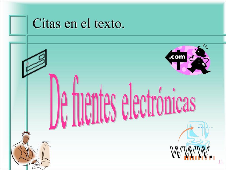 De fuentes electrónicas