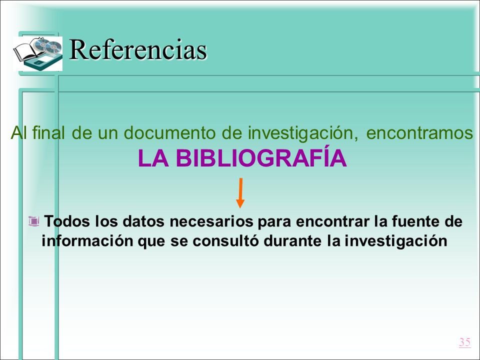 Al final de un documento de investigación, encontramos