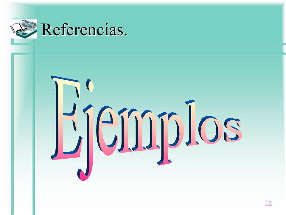 Referencias. Ejemplos 48