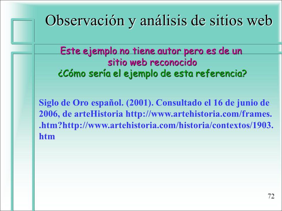 Observación y análisis de sitios web