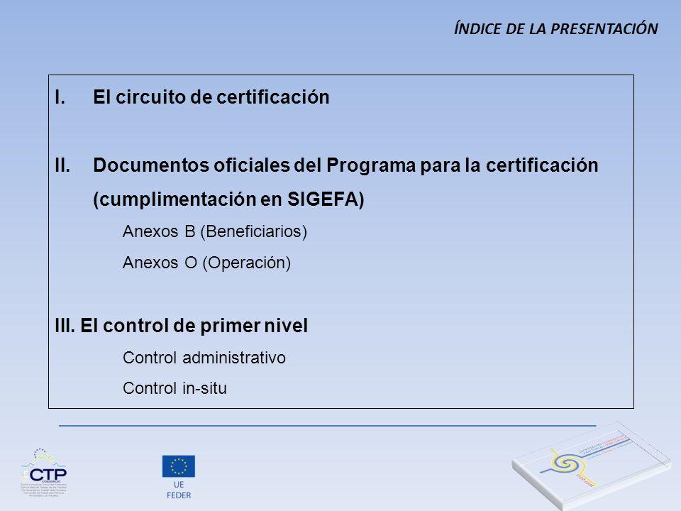 El circuito de certificación