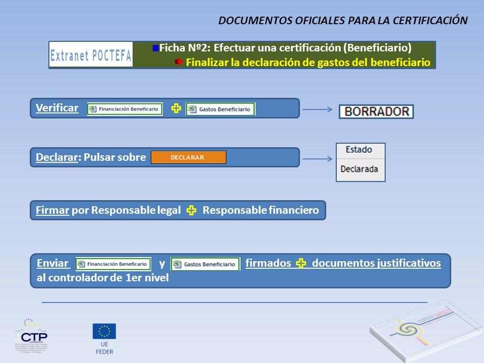 DOCUMENTOS OFICIALES PARA LA CERTIFICACIÓN