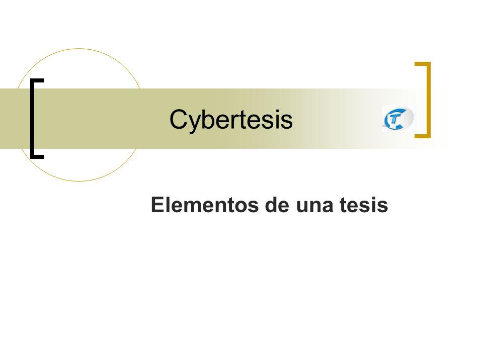 Cybertesis Elementos de una tesis