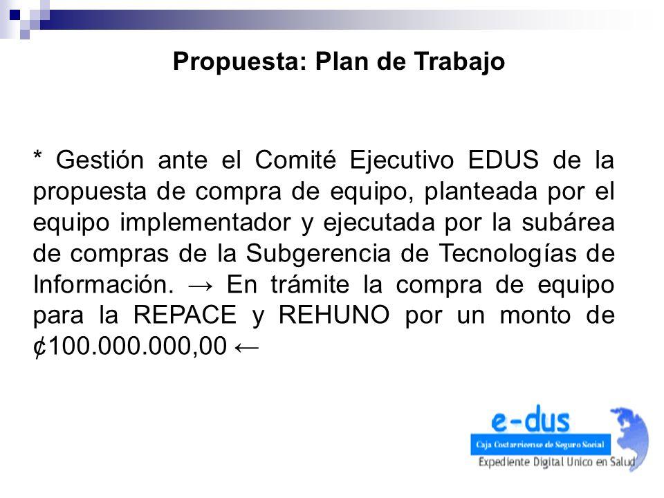 Propuesta: Plan de Trabajo