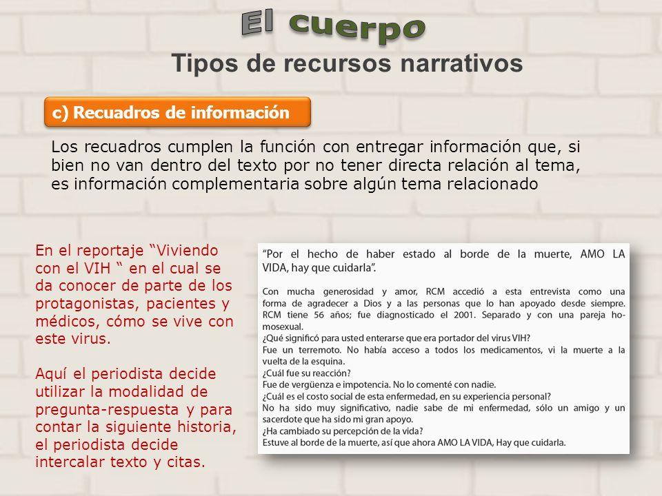 Tipos de recursos narrativos