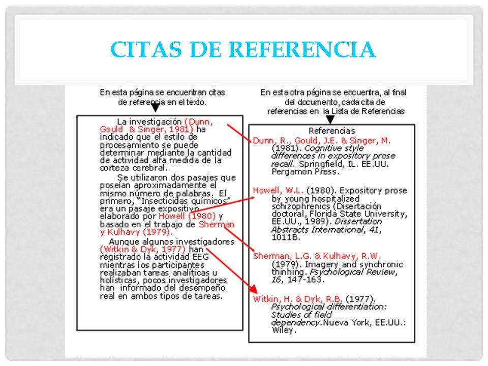 CITAS DE REFERENCIA