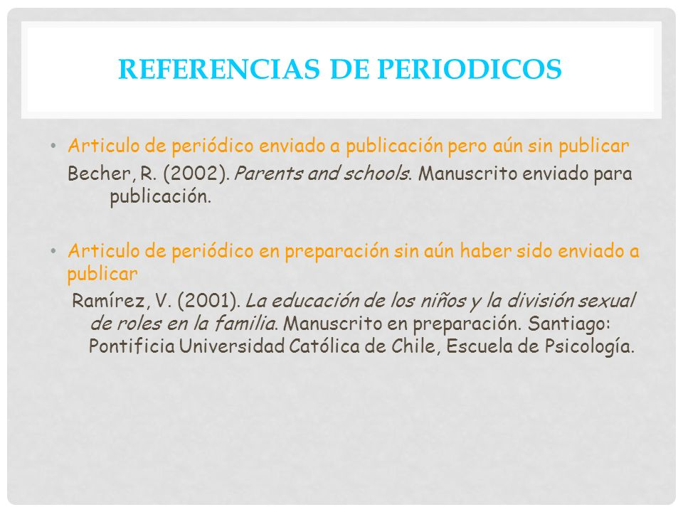 REFERENCIAS DE PERIODICOS