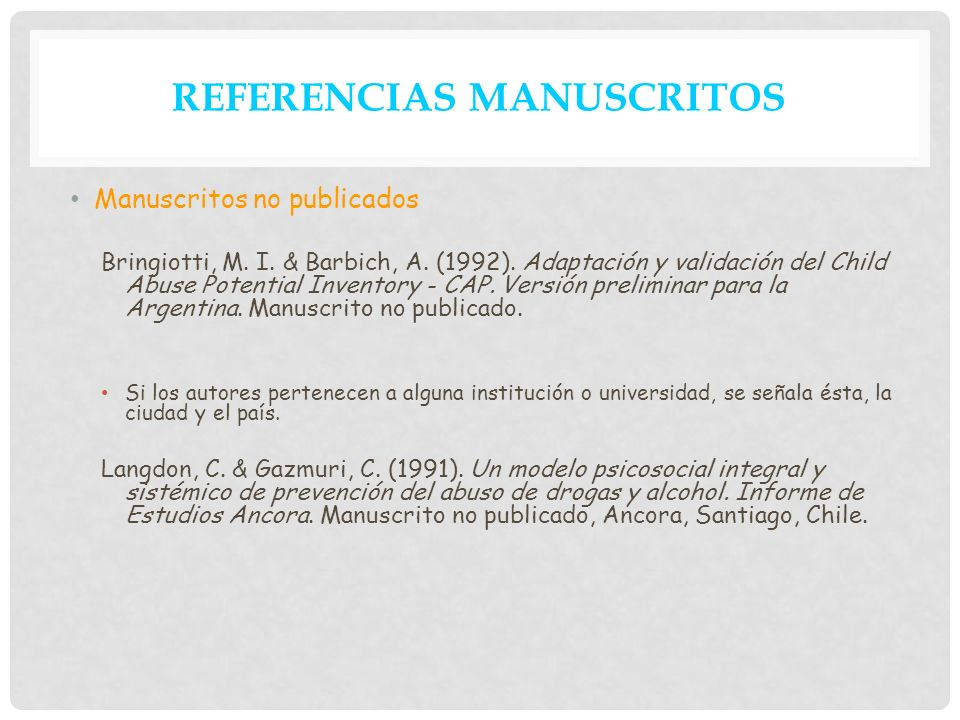 REFERENCIAS MANUSCRITOS