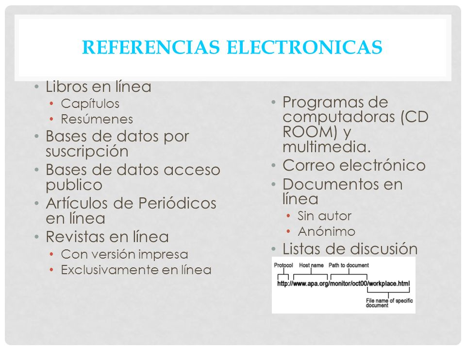 REFERENCIAS ELECTRONICAS