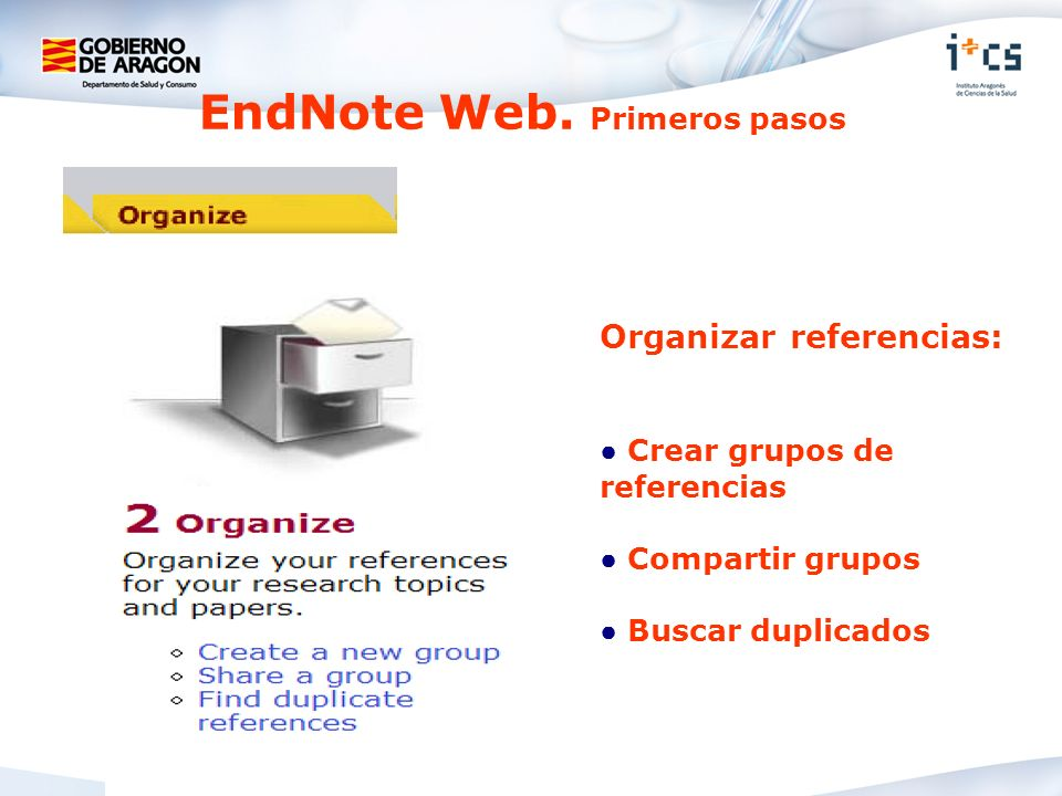 EndNote Web. Primeros pasos