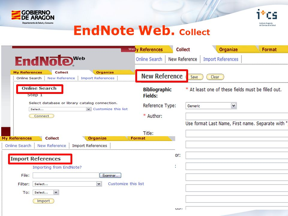 EndNote Web. Collect