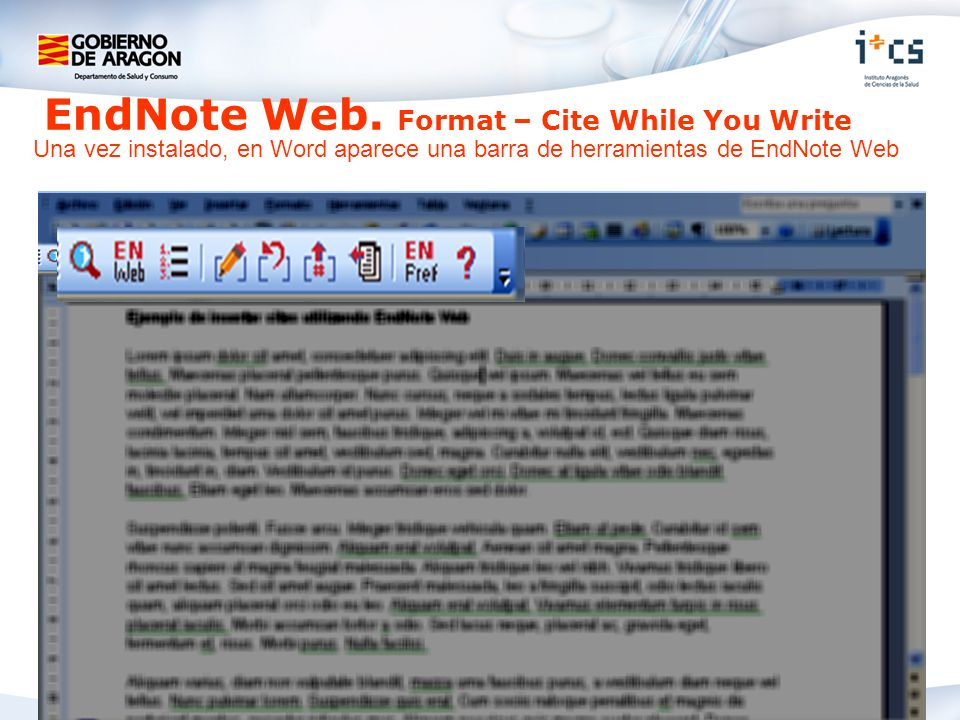 EndNote Web. Format – Cite While You Write