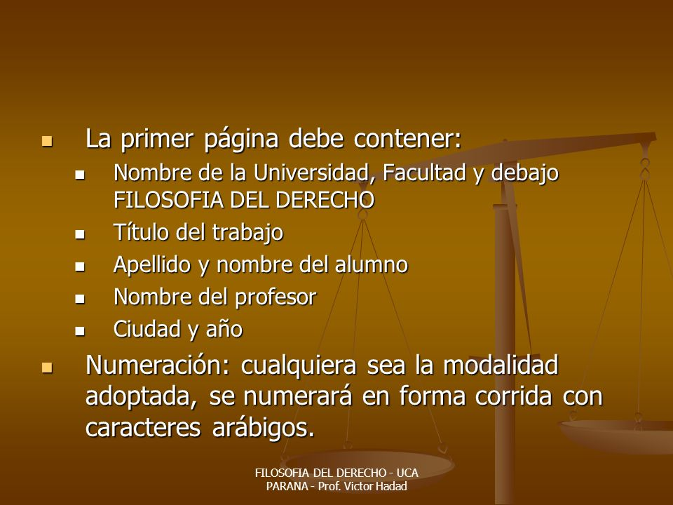 FILOSOFIA DEL DERECHO - UCA PARANA - Prof. Victor Hadad