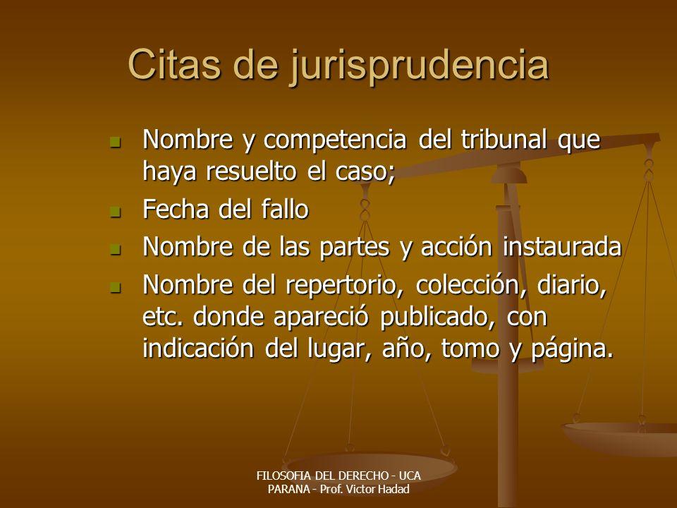 Citas de jurisprudencia