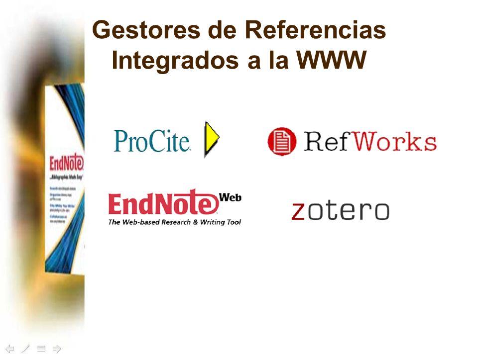 Gestores de Referencias Integrados a la WWW
