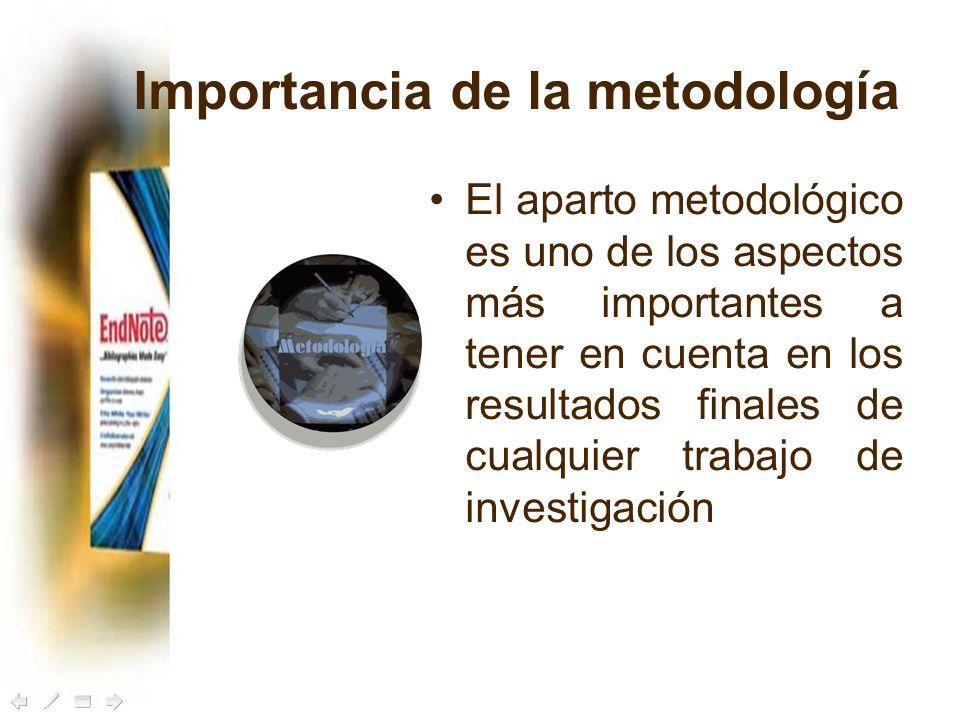 Importancia de la metodología