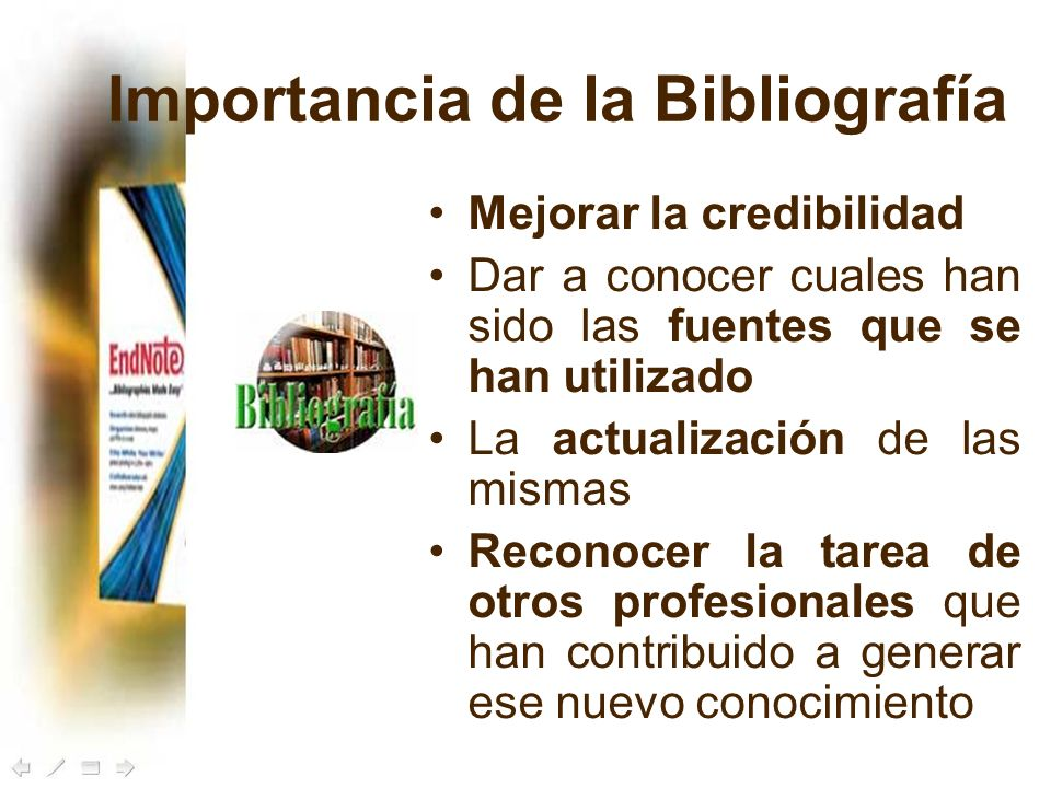 Importancia de la Bibliografía
