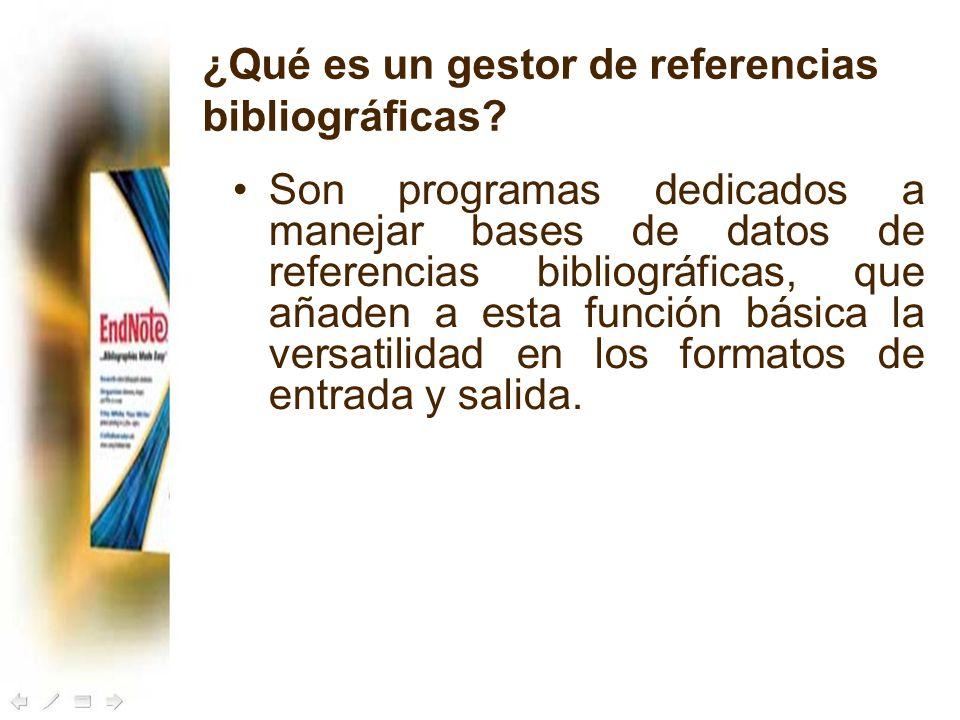 ¿Qué es un gestor de referencias bibliográficas