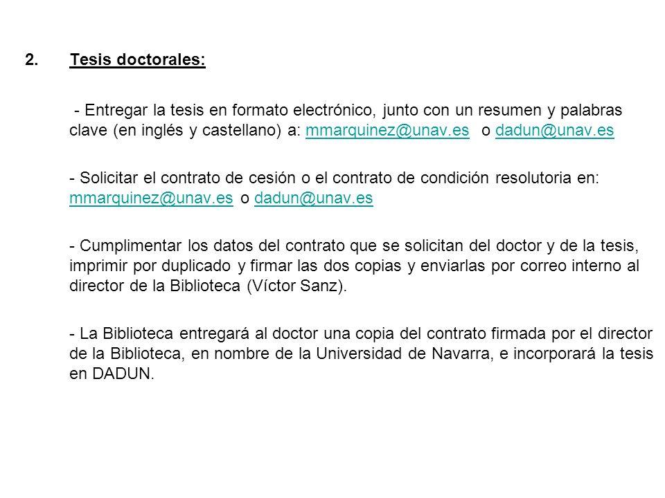 Tesis doctorales: