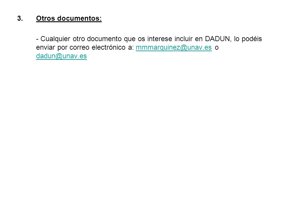 Otros documentos: