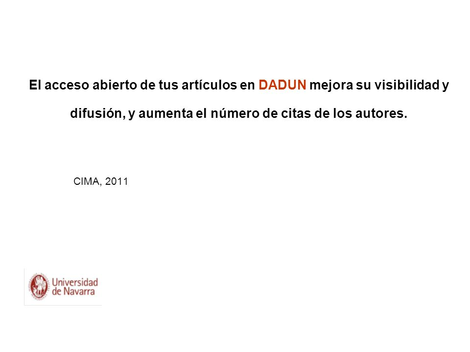 El acceso abierto de tus artículos en DADUN mejora su visibilidad y difusión, y aumenta el número de citas de los autores.