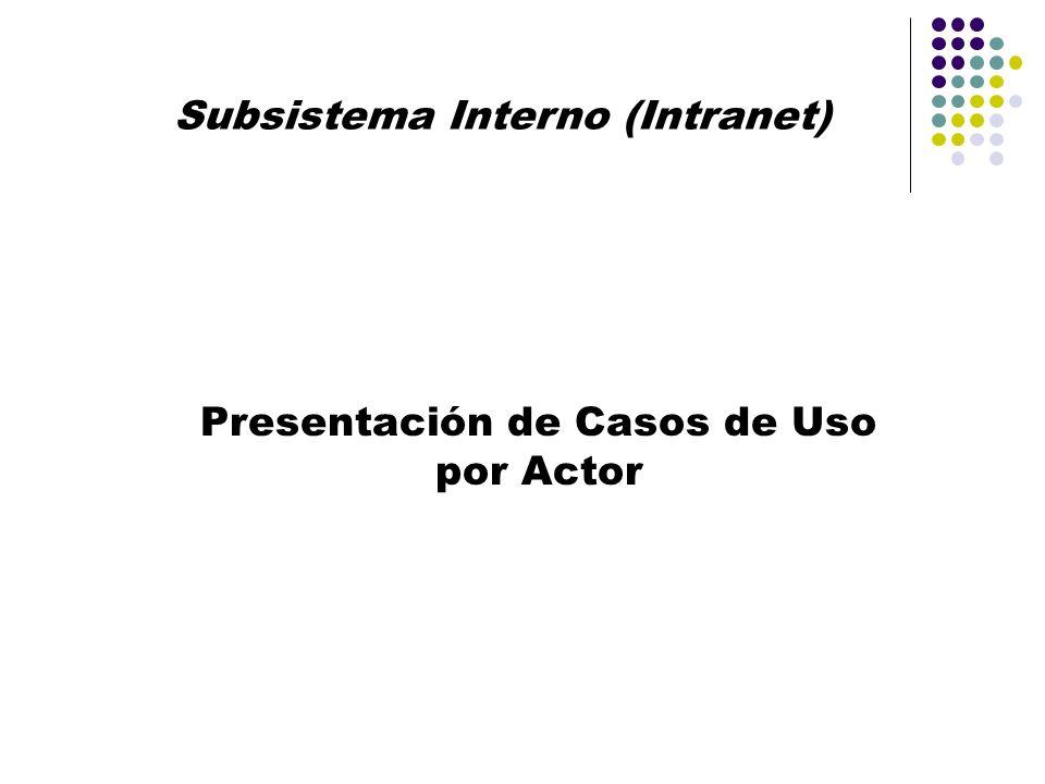 Subsistema Interno (Intranet)
