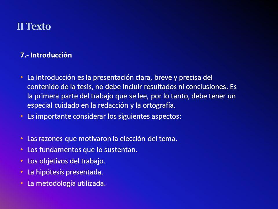 II Texto 7.- Introducción