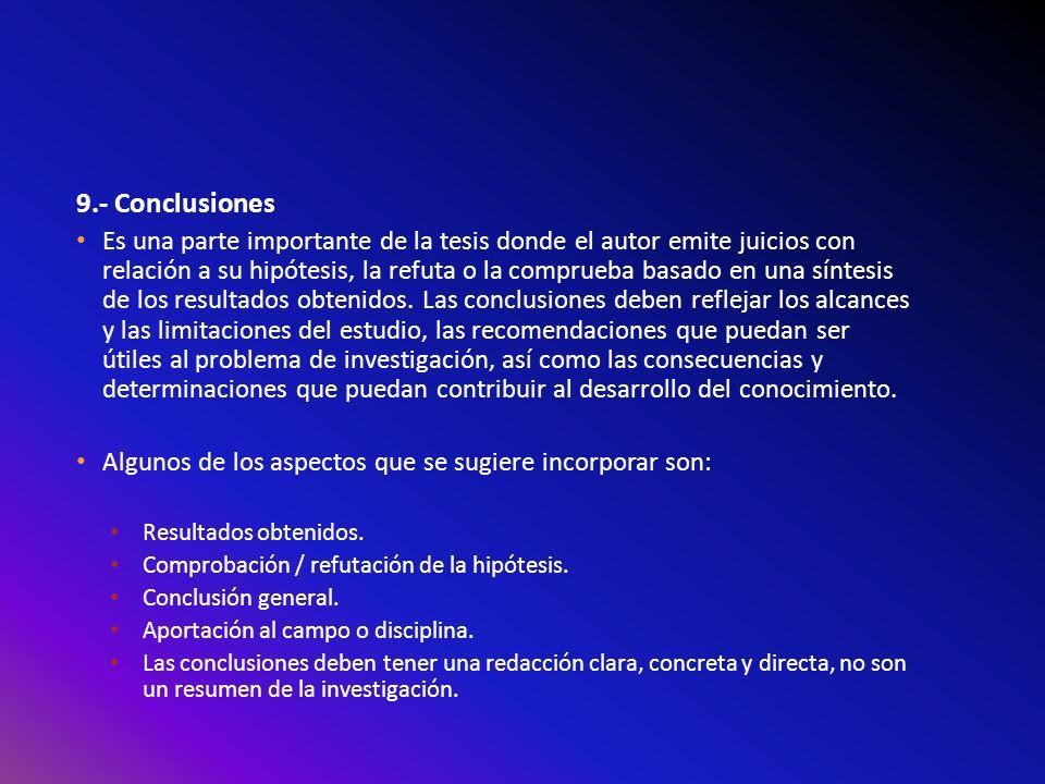 9.- Conclusiones