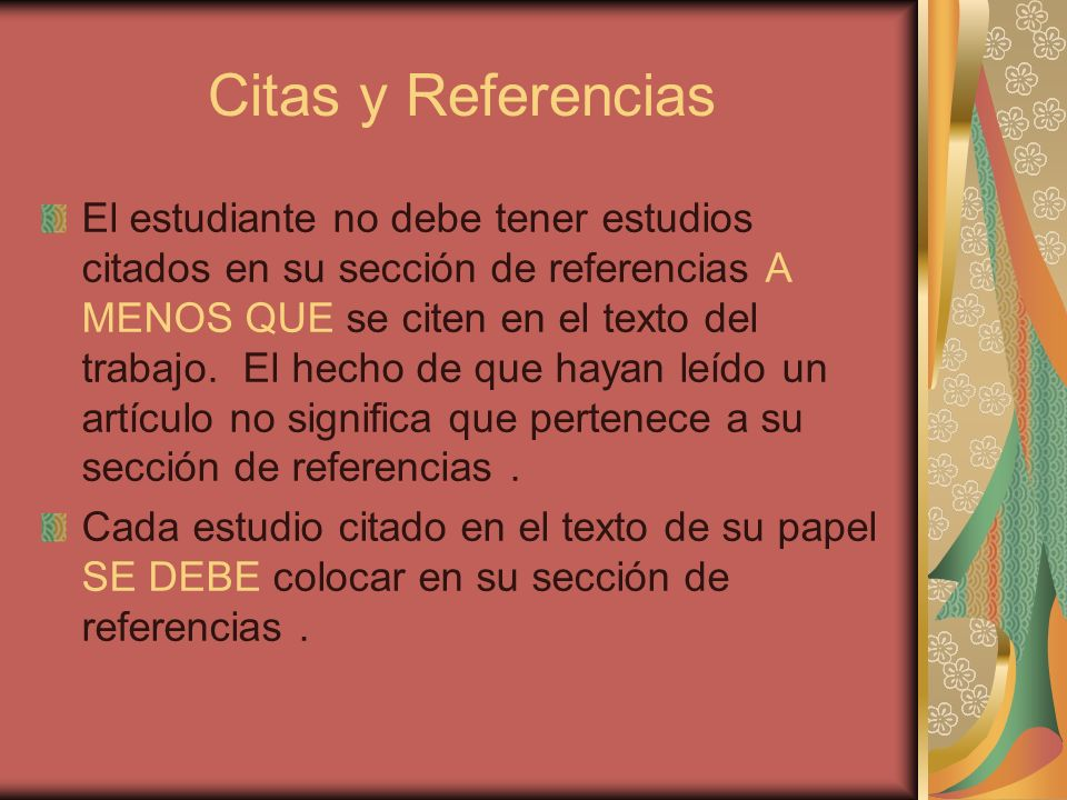 Citas y Referencias
