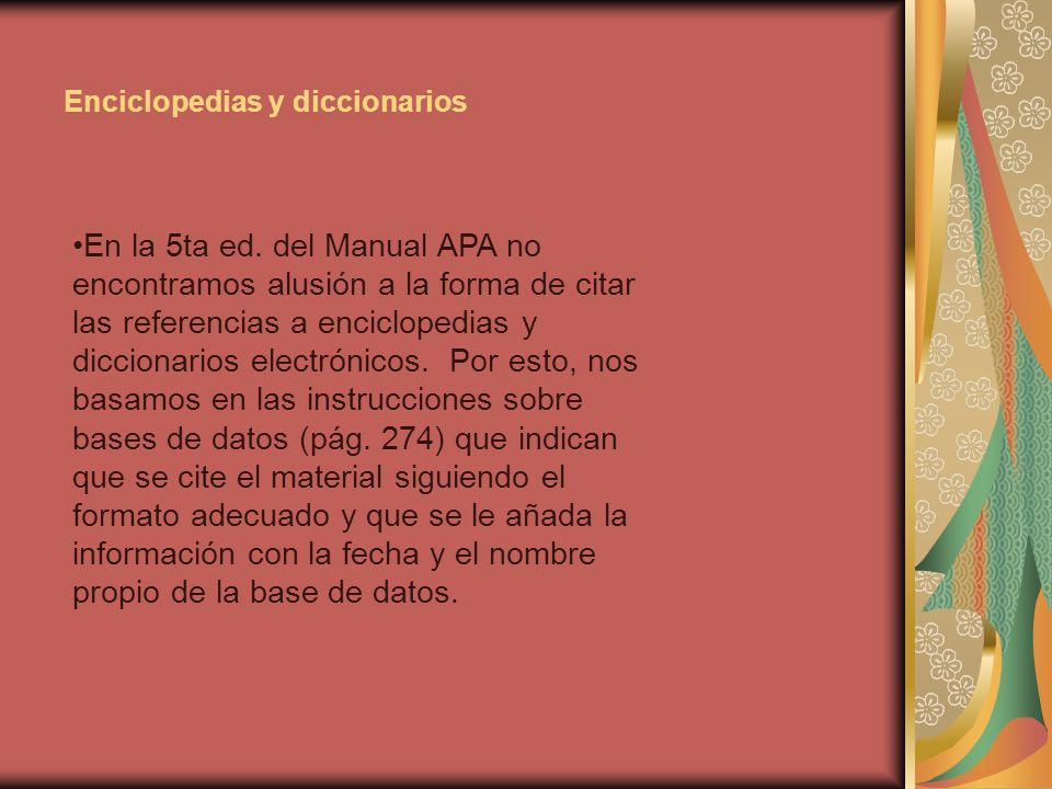 Enciclopedias y diccionarios