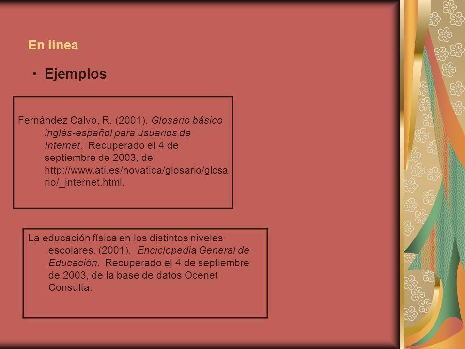En línea Ejemplos.