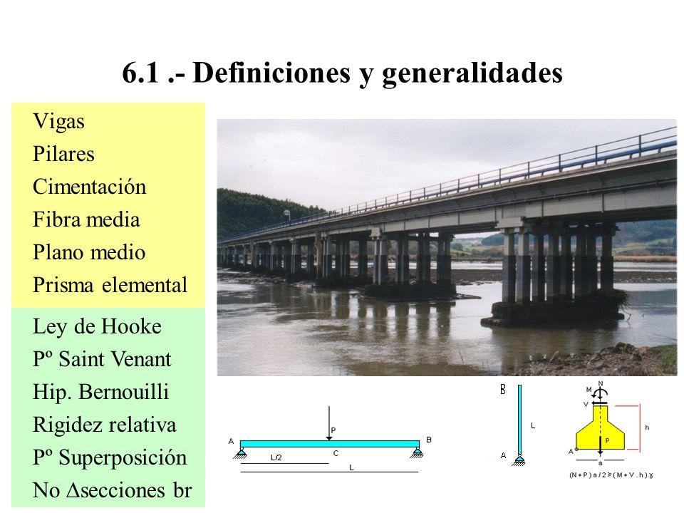 6.1 .- Definiciones y generalidades