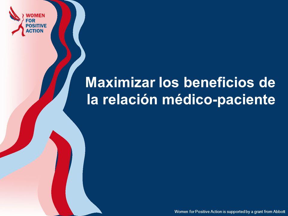 Maximizar los beneficios de la relación médico-paciente