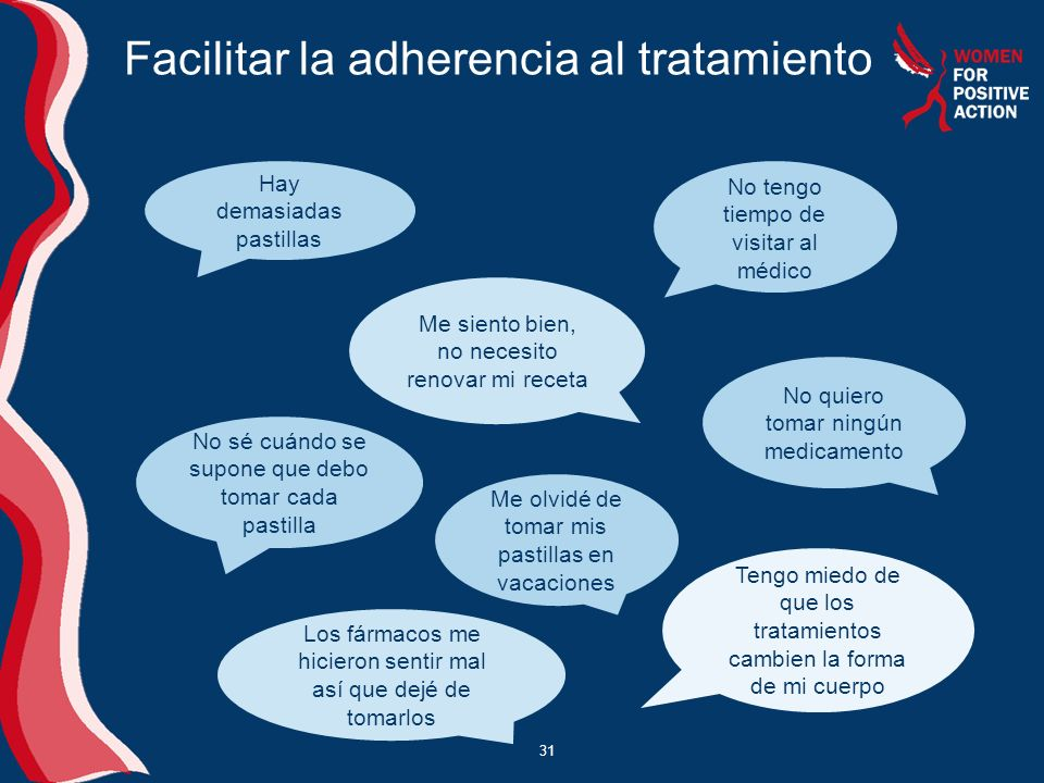 Facilitar la adherencia al tratamiento