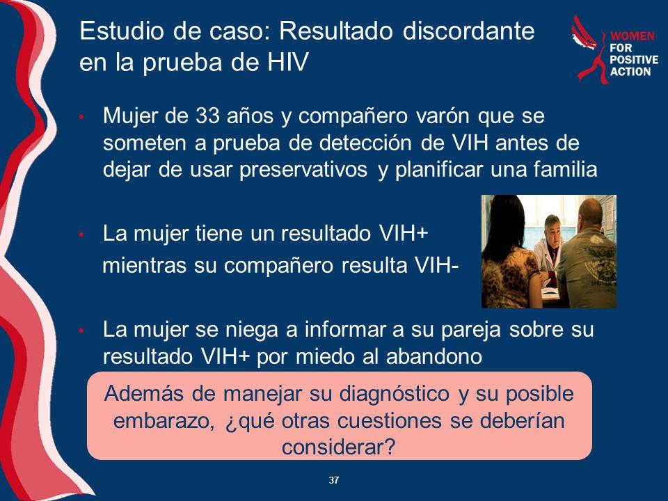 Estudio de caso: Resultado discordante en la prueba de HIV