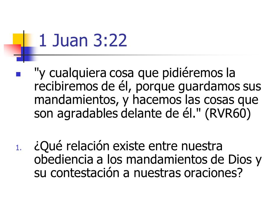 1 Juan 3:22