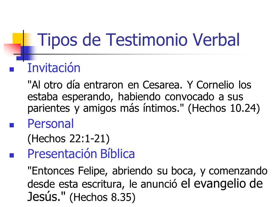 Tipos de Testimonio Verbal