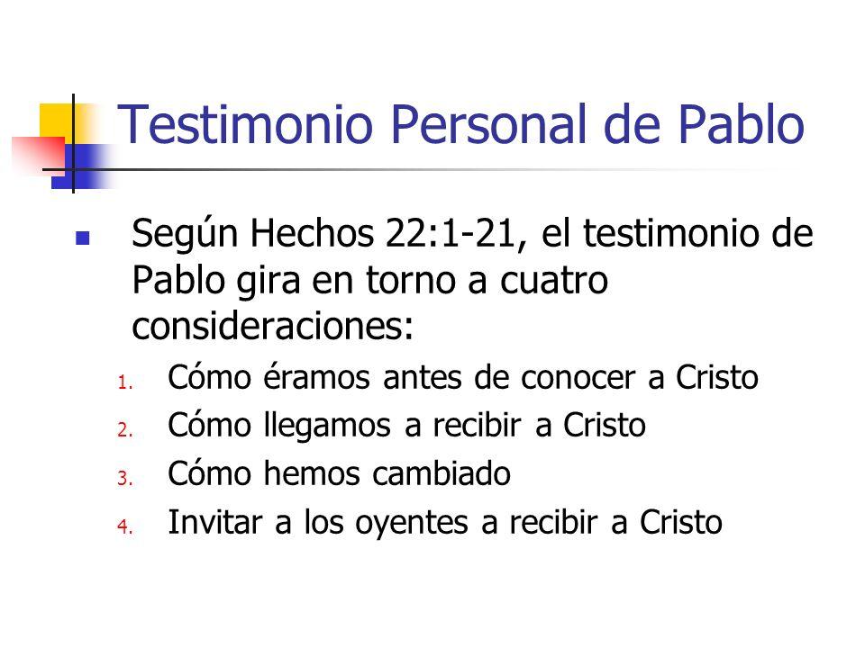 Testimonio Personal de Pablo